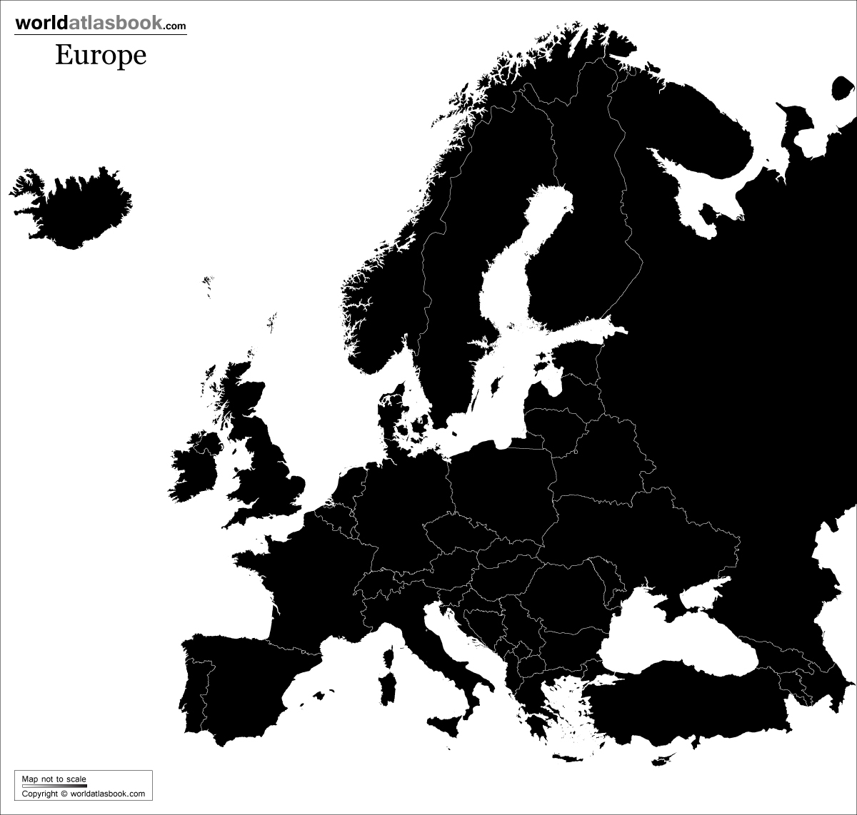 europe-map-black-white-printable | 21ConsultingLLC
